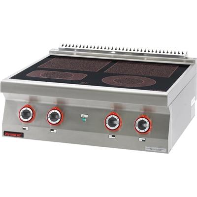 Kuchnia Elektryczna Ceramiczna 4 Pola 700 Ke 4c Kromet Kuchnie
